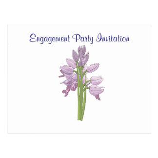 Orchid Simple Elegant Engagement Party Shower Postcard