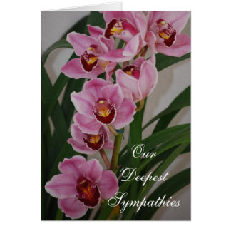 Orchid Spray Sympathy Card