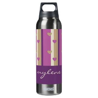 Orchid Tan Champagne Beige Purple Stripes Hearts