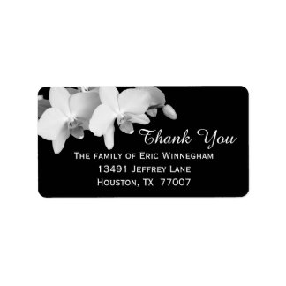 Orchid Thank You Label