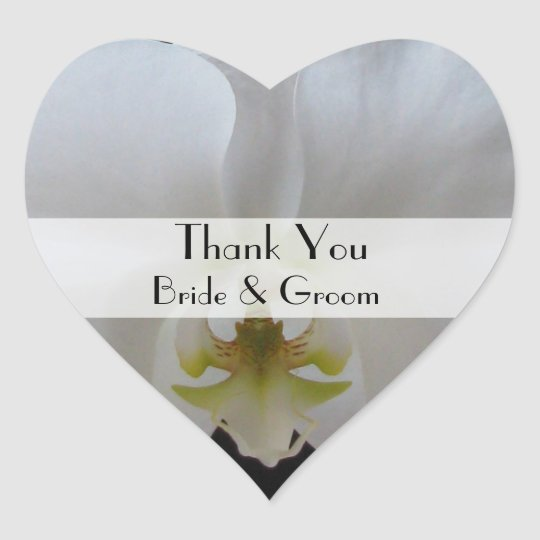 Orchid Thank You Sticker for Wedding