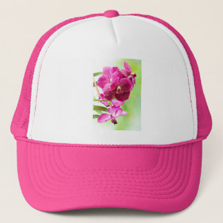 orchid trucker hat