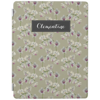 Orchid Watercolor Painting iPad Cover