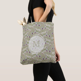 Orchid Watercolor Painting Tote Bag