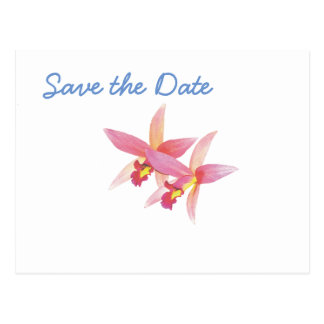 Orchid Wedding Day Theme Save the Date Postcard