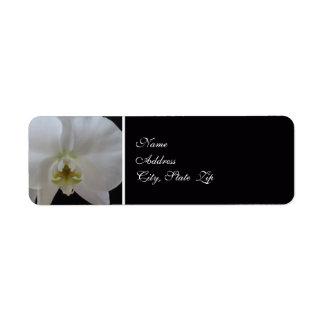 Orchid Wedding Invitation Return Address Label