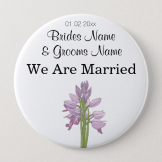 Orchid Wedding Souvenirs Keepsakes Giveaways 4 Inch Round Button