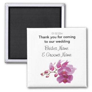 Orchid Wedding Souvenirs Keepsakes Giveaways Magnet