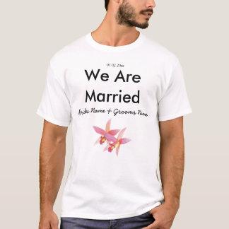 Orchid Wedding Souvenirs Keepsakes Giveaways T-Shirt