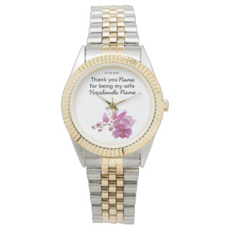 Orchid Wedding Souvenirs Keepsakes Giveaways Watch