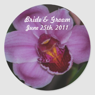 Orchid Wedding Stickers