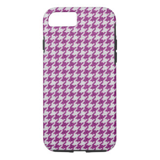 Orchid White Knit Houndstooth Geometric Pattern iPhone 7 Case