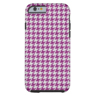 Orchid White Knit  Houndstooth Geometric  Pattern Tough iPhone 6 Case