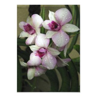 Orchideas invitation, customize card