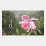 Orchidée et colibris de Martin Johnson Heade Autocollant Rectangulaire