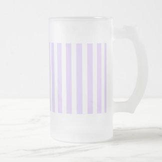 Orchidée lilas de lavande de glycines et rayure mug en verre givré