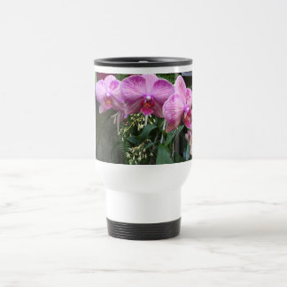 orchids 15 oz stainless steel travel mug