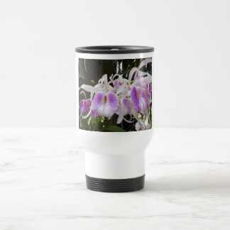 Orchids 45 stainless steel travel mug
