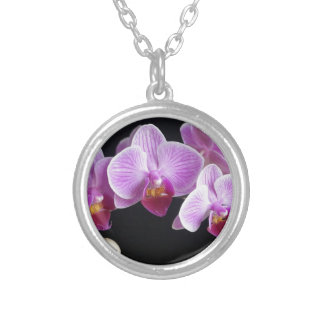 orchids-837420_640 silver plated necklace