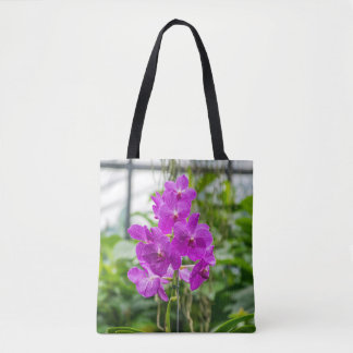 Orchids all-over-print tote bag