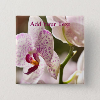 Orchids by Shirley Taylor 2 Inch Square Button