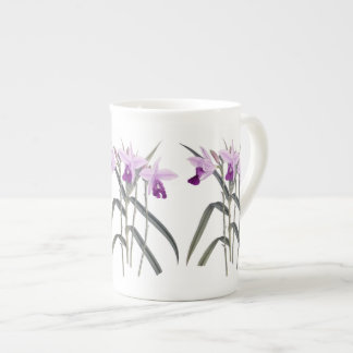 Orchids Floral Botanical Bone China Mug