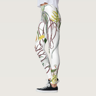 Orchids Glory Lily Flowers All Over Print Leggings