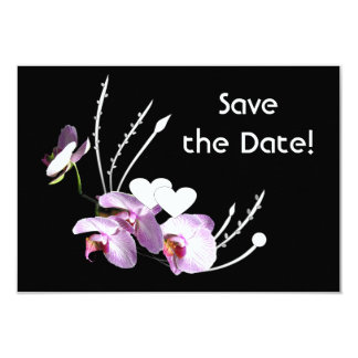 Orchids Ikebana Save the Date Announcement