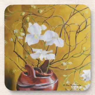 Orchids in a Brown Vase Coasters