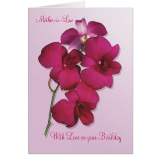 Orchids. Mother-in-Law Birthday Card