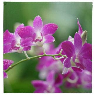 orchids napkin
