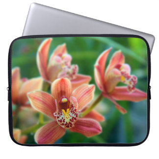 Orchids Obsession Personalized Laptop Sleeve