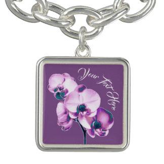 Orchids Personalized Bracelet