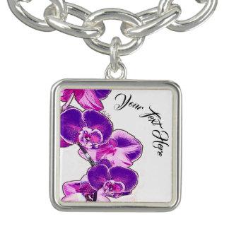 Orchids Personalized Bracelets