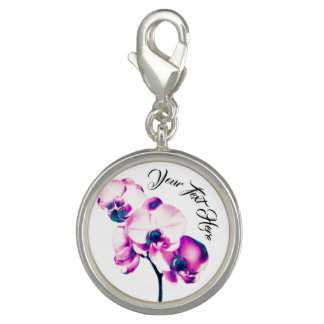 Orchids Personalized Charm