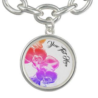 Orchids Personalized Charm Bracelets