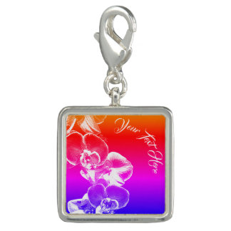 Orchids Personalized Charms