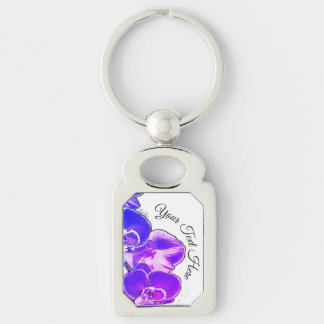 Orchids Personalized Keychain