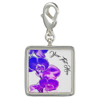 Orchids Personalized Photo Charm