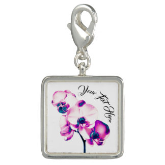 Orchids Personalized Photo Charms