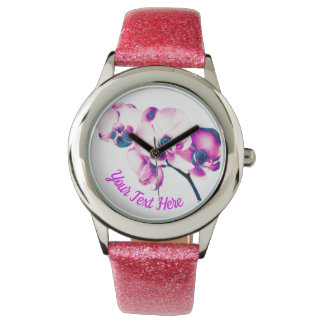 Orchids Personalized Watch