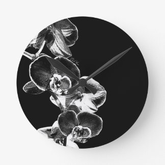 Orchids Round Clock