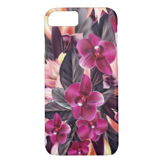 Orchids. Tropical design with beautiful flowers iPhone 8/7 Case