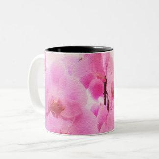 orchids. Two-Tone coffee mug