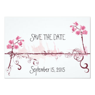 Orchids Wedding Save the Card Date