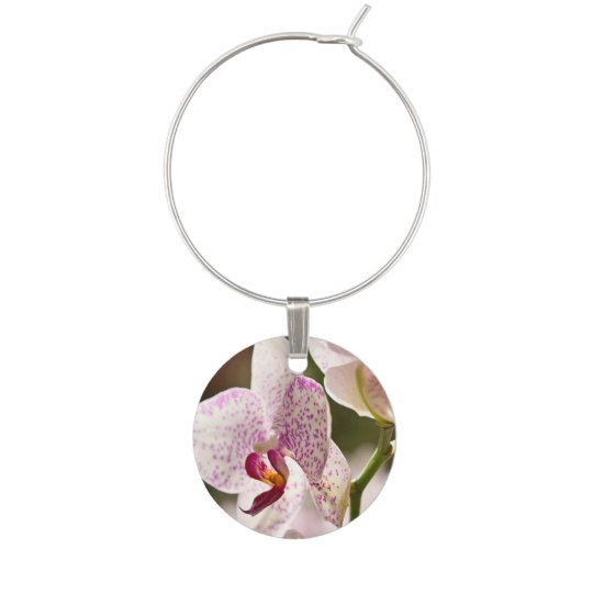 Orchids Wine Charms