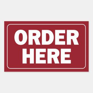 Order Here sign for restaurant or business