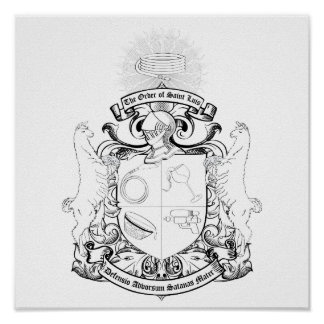 Order of St. Luis Coat of Arms Coloring Poster