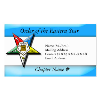 Order of the Eastern Star Blue Business Card
