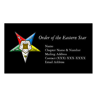 Order of the Eastern Star Business Card Templates